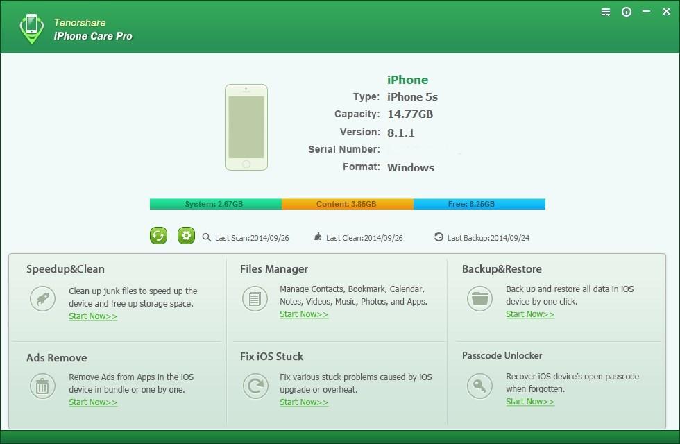 Wise iPhone Care - Imagem 1 do software