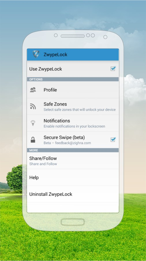 Zwype Lock Screen - Imagem 2 do software