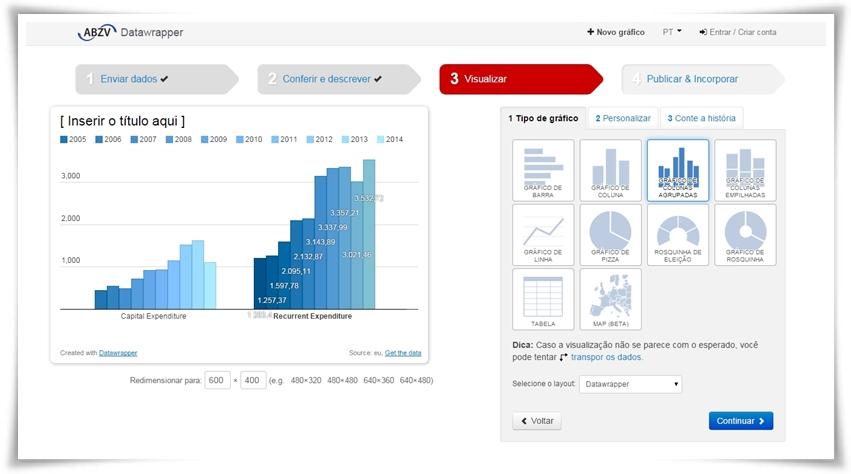 Datawrapper - Imagem 1 do software