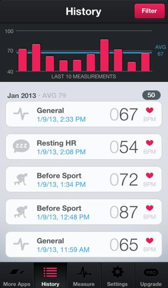 Runtastic Heart Rate Monitor & Pulse Tracker - Imagem 2 do software