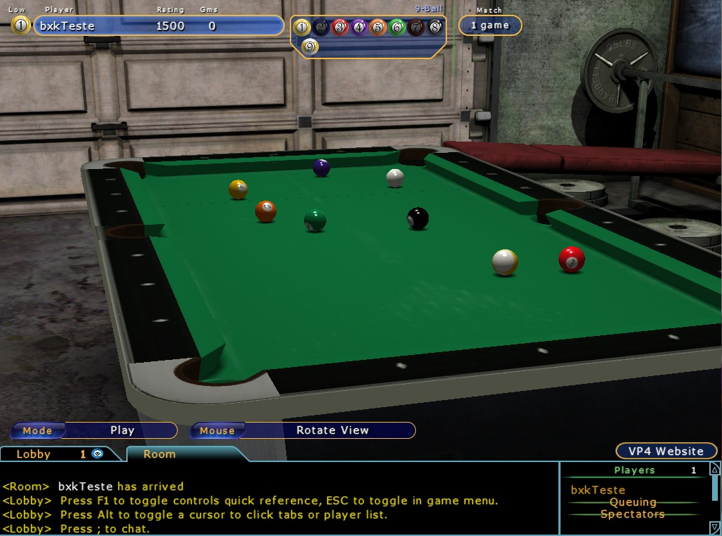 Virtual Pool Online - Imagem 1 do software