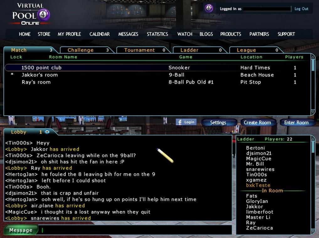 Virtual Pool Online - Imagem 3 do software