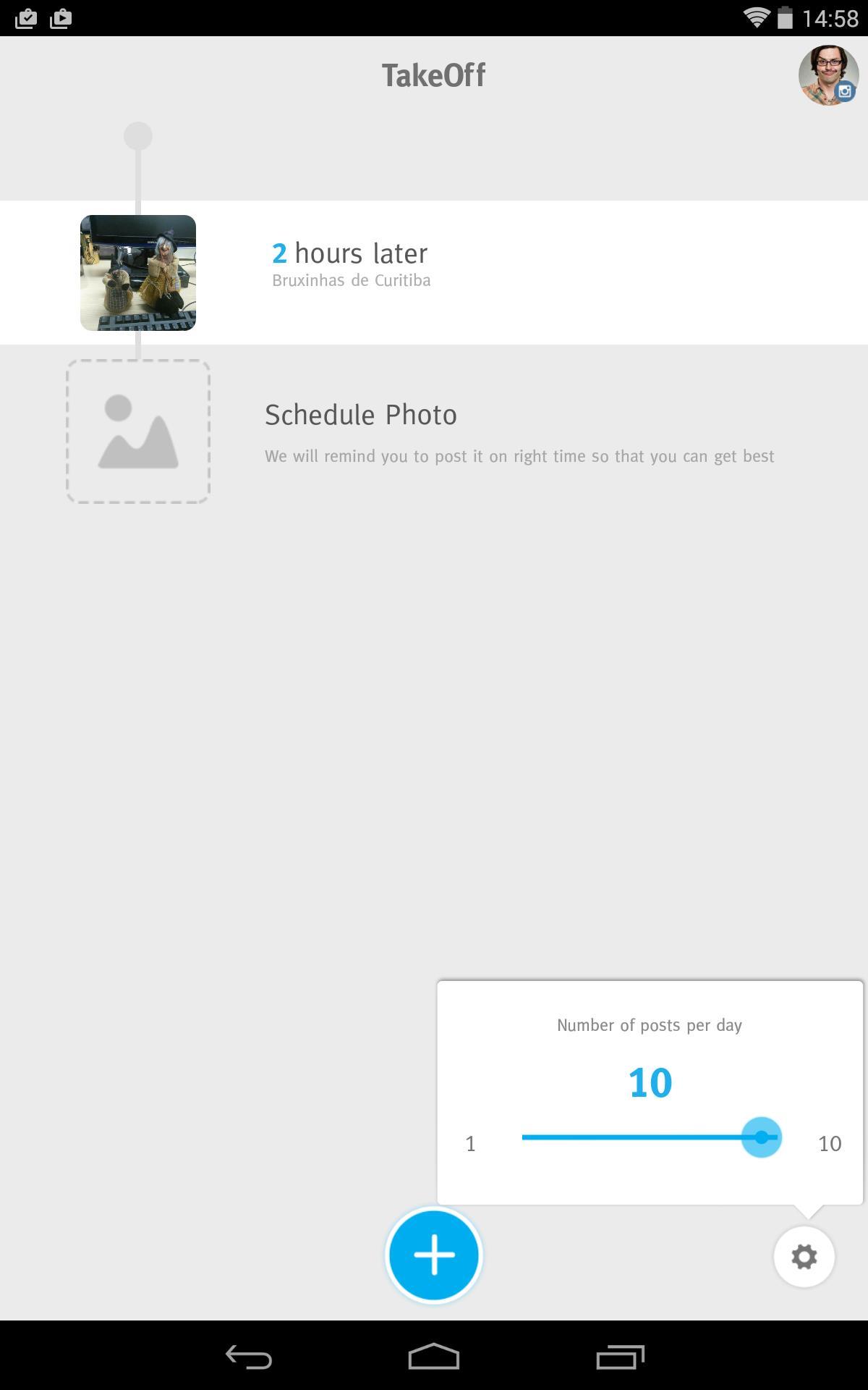 TakeOff- Schedule on Instagram - Imagem 1 do software