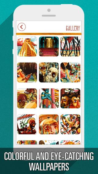 Colorful Wallpapers from Necklace of Skulls - Imagem 2 do software