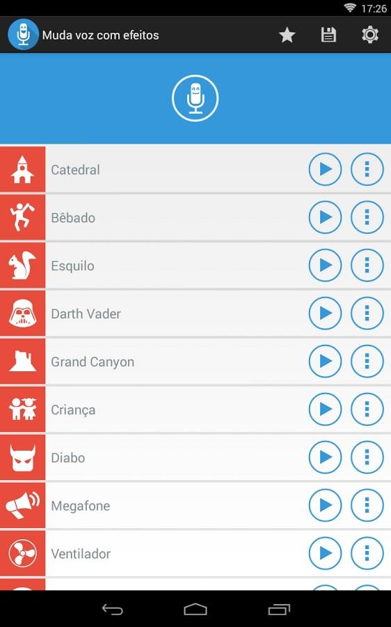 Muda voz com efeitos Download para Android Grátis