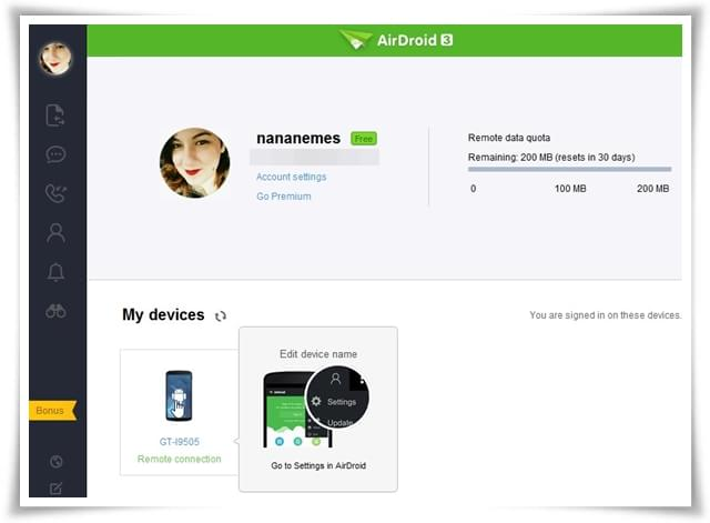 AirDroid - Imagem 3 do software
