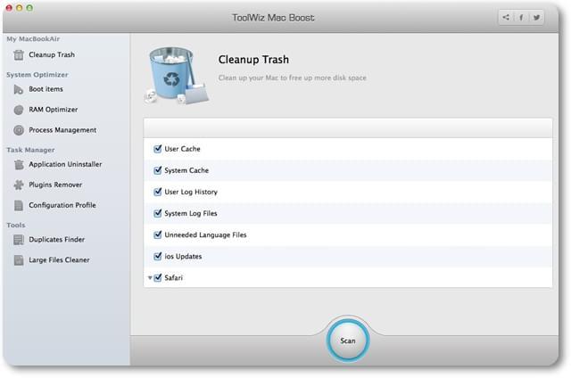 Toolwiz Mac Boost - Imagem 1 do software