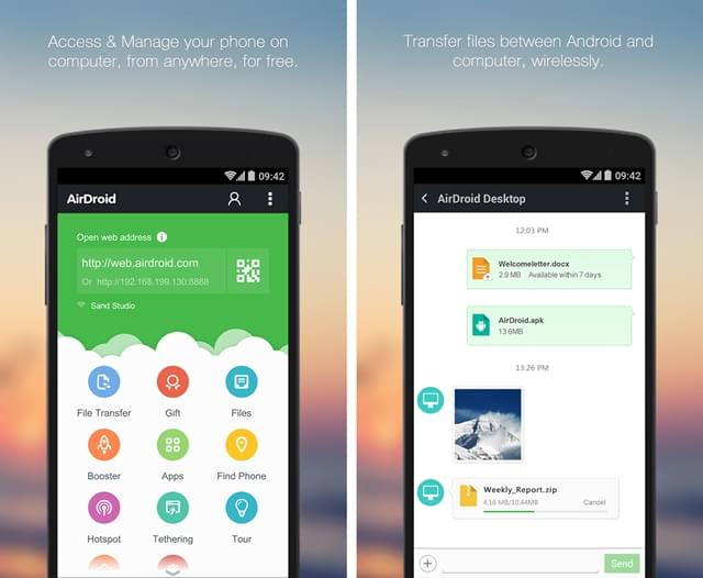 AirDroid - Android on Computer - Imagem 1 do software