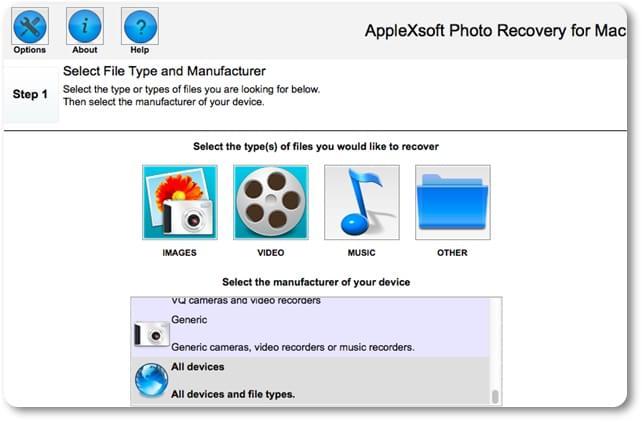 Mac Photo Recovery - Imagem 1 do software