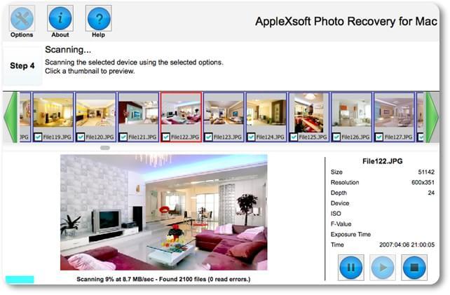 Mac Photo Recovery - Imagem 2 do software