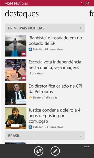 MSN Notícias - Imagem 2 do software