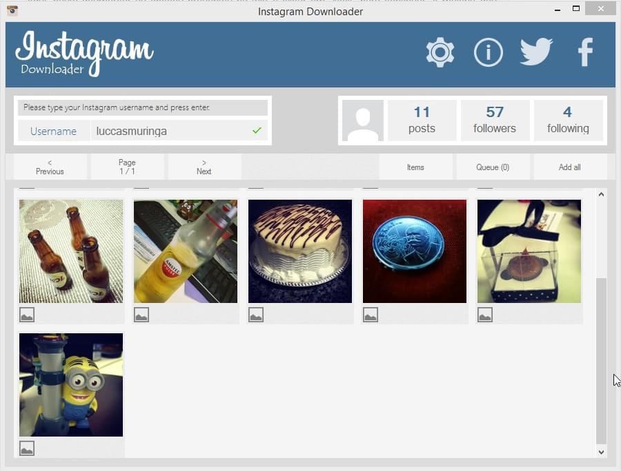 Major Share Instagram Downloader - Imagem 2 do software