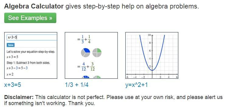Free algebra calculator