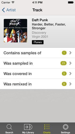 WhoSampled - Imagem 2 do software