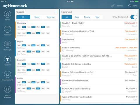 myHomework Student Planner - Imagem 1 do software