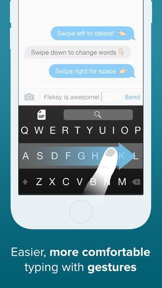 Teclado Fleksy - GIFs , Extensões e Temas Personalizados - Imagem 2 do software