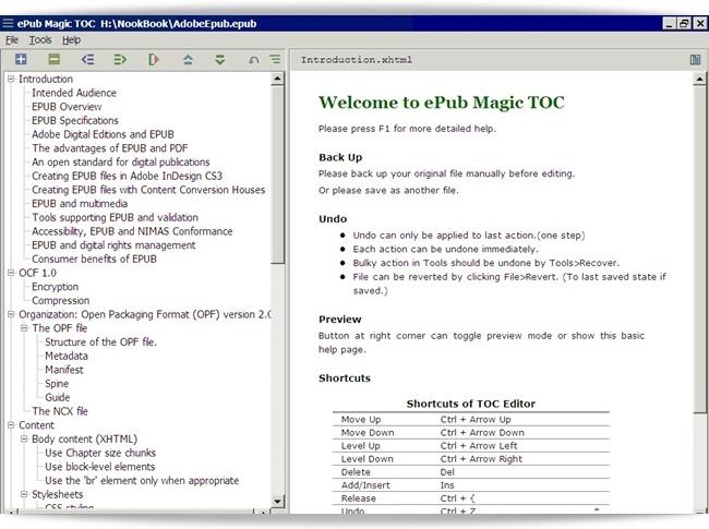 ePub Magic TOC - Imagem 1 do software