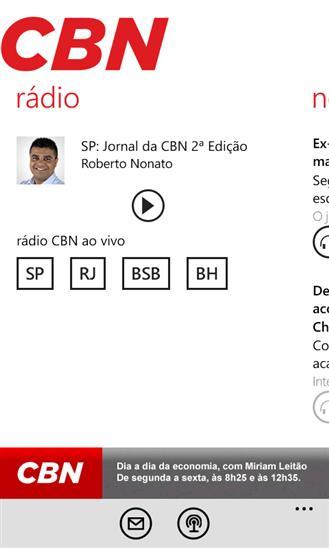 Rádio CBN - Imagem 1 do software