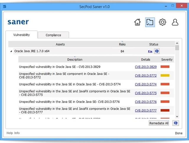 SecPod Saner Personal - Imagem 2 do software