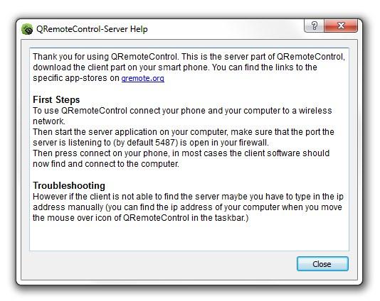 QRemote Control - Imagem 1 do software