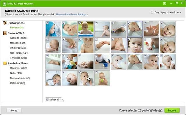KiwiG iOS Data Recovery Free - Imagem 1 do software