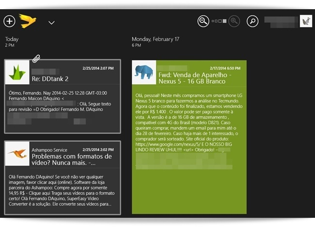 TouchMail - Imagem 1 do software