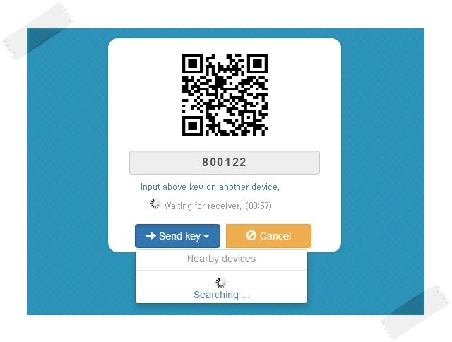Você pode conectar seus dispositivos por QR Codes