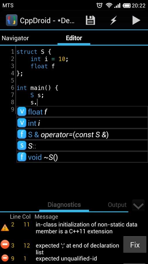CppDroid – C/C++ IDE - Imagem 1 do software