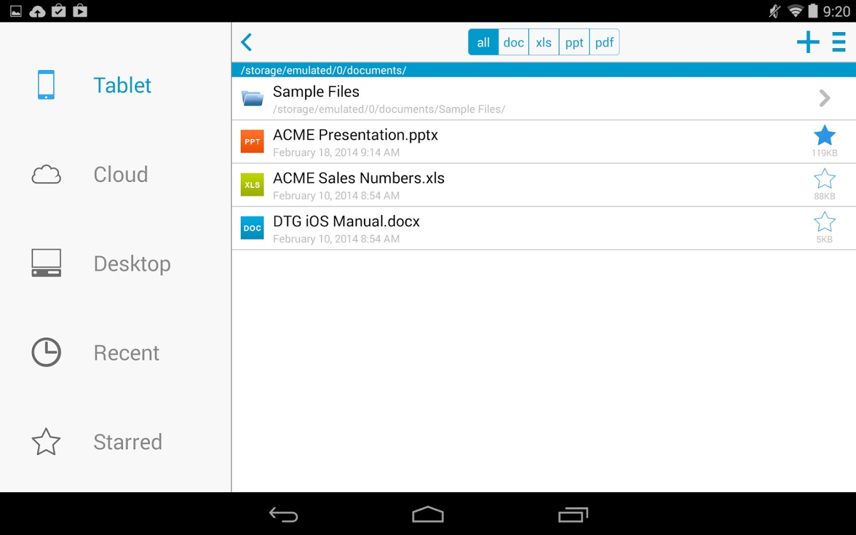 Docs To Go - Free Office Suite - Imagem 1 do software