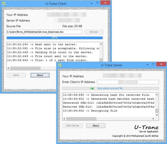 U-Tranz - Imagem 1 do software