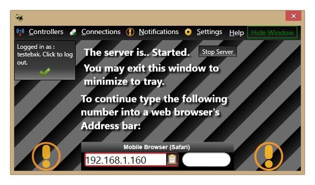 MobiController - Imagem 1 do software