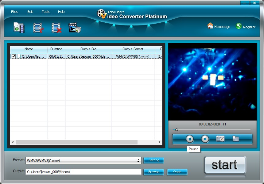 Tenorshare Video Converter Platinum - Imagem 1 do software