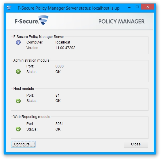 F-Secure Policy Manager