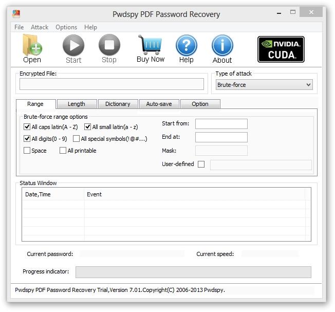Pwdspy PDF Password Recovery