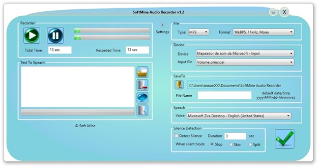 Com a tela de configurações aberta