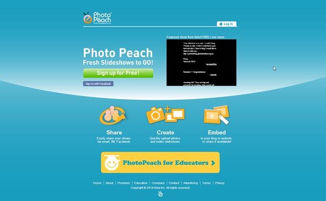 PhotoPeach - Imagem 1 do software