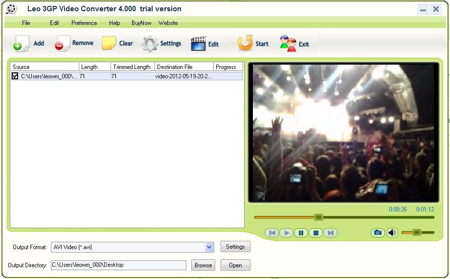 Leo 3GP Video Converter - Imagem 1 do software