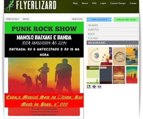 Flyer Lizard - Imagem 1 do software