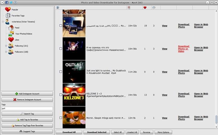 Photo and Video Downloader for Instagram - Imagem 1 do software