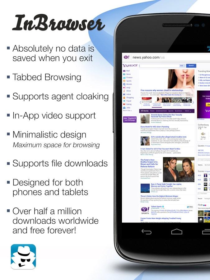 InBrowser - Browser Incógnito - Imagem 1 do software