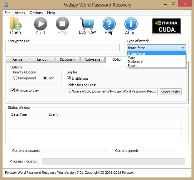 Pwdspy Word Password Recovery - Imagem 1 do software
