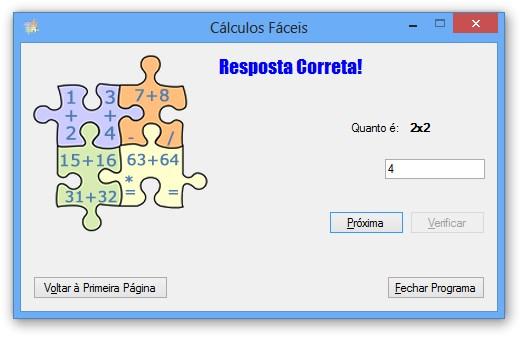 Resolvendo cálculos