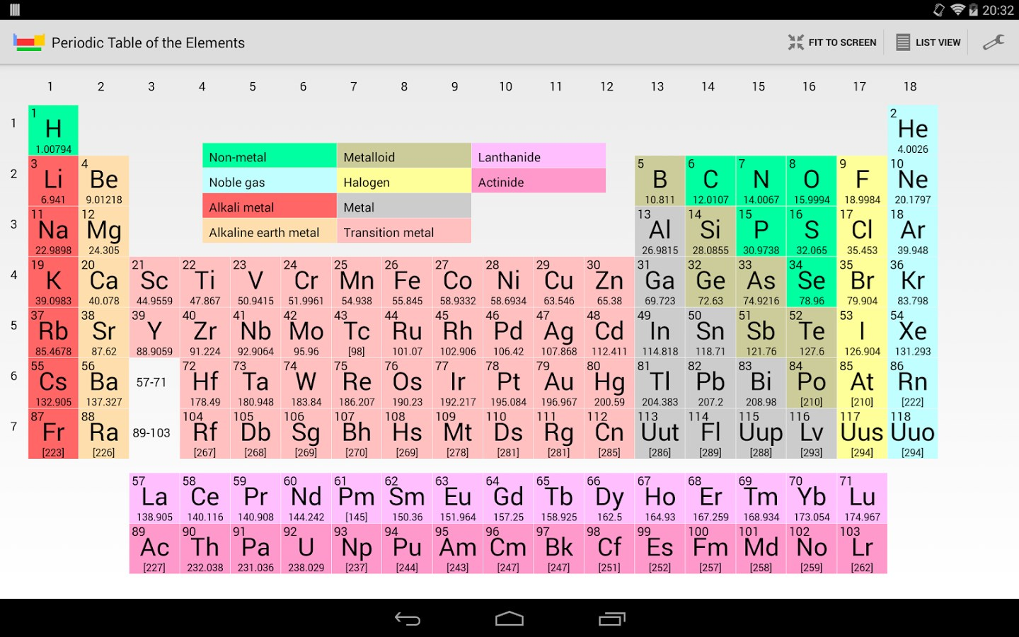Periodic Table of Elements - Imagem 1 do software