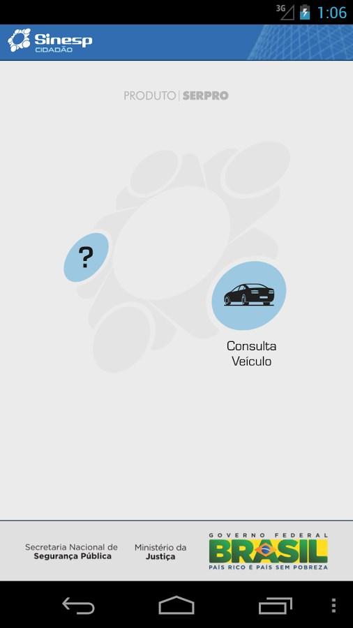 Sinesp Cidadão - Imagem 1 do software