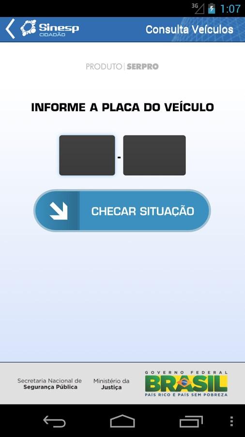 Sinesp Cidadão - Imagem 2 do software