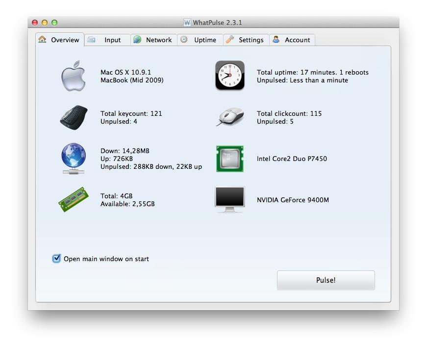 WhatPulse - Imagem 1 do software
