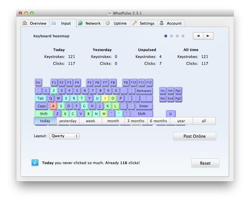 WhatPulse - Imagem 2 do software