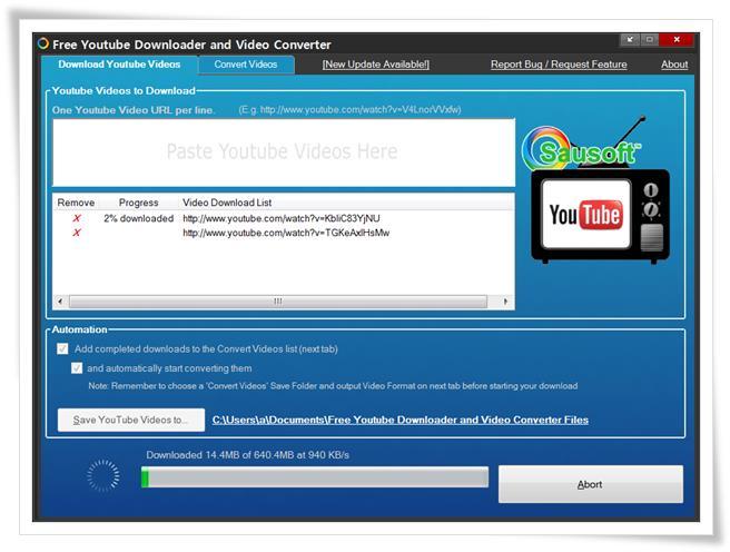 Free YouTube Downloader and Video Converter - Imagem 1 do software
