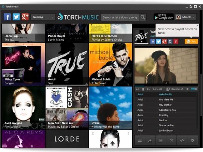 Torch Music Desktop - Imagem 1 do software