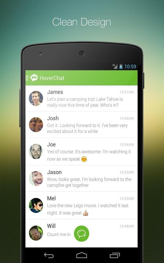 HoverChat Free (Ninja SMS) - Imagem 1 do software